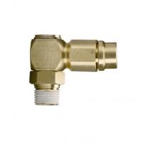 """Đầu cắm nhanh ren 1/4"""", dây 12mm góc 90 độ xoay WD1214S ( Brass)"""